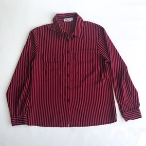 Tops - Vintage pin stripe button up